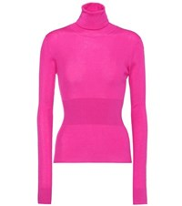 Dolce And Gabbana Cashmere Turtleneck Sweater Pink