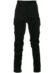White Mountaineering Fitted Cargo Trousers Black