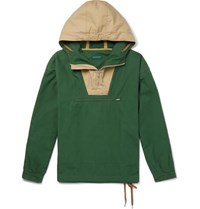 J.Crew 1989 Colour Block Cotton Anorak Green