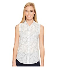 United By Blue Sleeveless Primrose Shirt Ivory Women's Sleeveless White