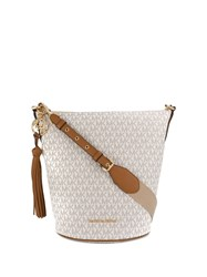 Michael Kors Brooke Medium Bucket Bag Neutrals