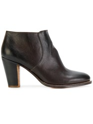 N.D.C. Made By Hand Zipped Ankle Boots Leather Brown
