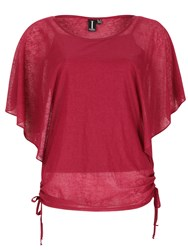 Izabel London Batwing Tie Detail Top Pink