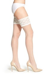 Women's Charnos 'Lace' Thigh High Stay Up Stockings Ivory