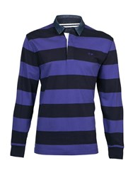 Raging Bull L S Hooped Rugby Purple