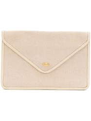 Celine Vintage Envelope Clutch Nude And Neutrals