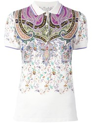 Etro Abstract Print Polo Shirt Nude Neutrals