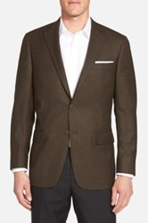 Hart Schaffner Marx New York Classic Fit Check Wool Sport Coat Brown