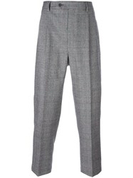 Lc23 Glen Plaid Tailored Trousers Grey