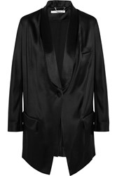 Givenchy Blazer In Black Silk Satin