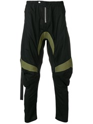 Unravel Project Panelled Drop Crotch Trousers Black