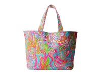 Lilly Pulitzer Beach Tote Shorely Blue Scuba To Cuba Tote Handbags Multi