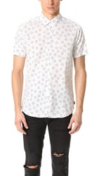 Rvca Ring Short Sleeve Shirt Antique White