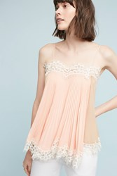 Anthropologie Pleated Swing Cami Peach