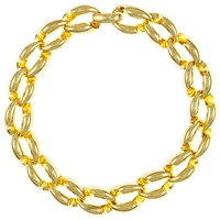 Eclectica Vintage 1970S Christian Dior Gold Plated Collar Necklace Gold