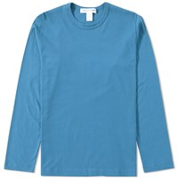 Comme Des Garcons Shirt Long Sleeve Basic Tee Blue
