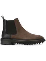 Lanvin Panelled Chelsea Boots Brown