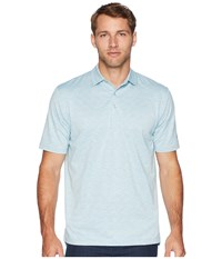 Callaway Space Dye Jacquard Polo Pearl Blue Short Sleeve Pullover