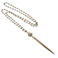 Lacey Ryan Pyrite Rosary Necklace Gold