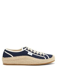 Gucci Gg Jacquard Espadrille Trainers Navy Multi