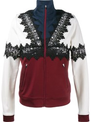 Ganni Lace Applique Sports Jacket Black