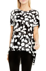 Vince Camuto Women's Elegant Blossom High Low Blouse