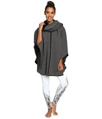 Alo Yoga Wrap Poncho Charcoal Heather Women's Coat Gray