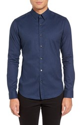 Theory Men's Zack Trim Fit Stretch Denim Sport Shirt