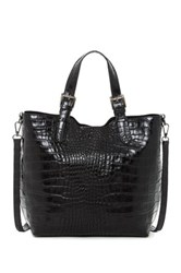 Renata Corsi Embossed Leather Handbag Black
