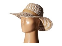 Steve Madden Floppy Woven Two Tone Hat Ivory Traditional Hats White