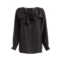 Wtr Sabina Silk Bow Top Black