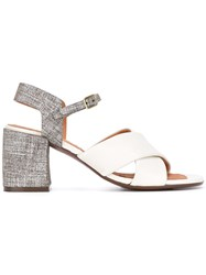 Chie Mihara Cross Over Sandals Nude Neutrals