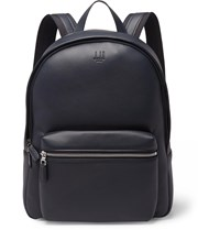 Dunhill Hampstead Canvas Panelled Full Grain Leather Backpack Blue
