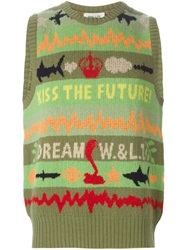 Walter Van Beirendonck Vintage 'Dream' Sleeveless Knit Top Green