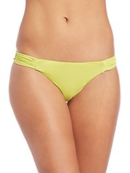 Asceno Reversible Ruched Bikini Bottom Lime