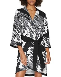 Halston Heritage Printed Kimono Dress Black Crocus