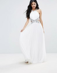 Forever Unique Cut Out Maxi Dress Ivory White