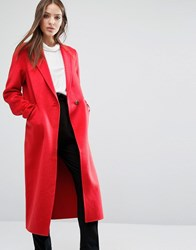 Selected Smart Over Coat Flame Scarlet Red
