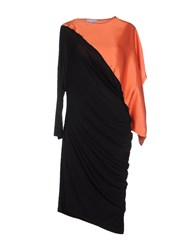 Paolo Errico Dresses Knee Length Dresses Women Orange