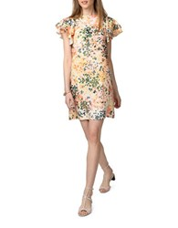 Donna Morgan Flutter Sleeve Shift Dress Petal Pink