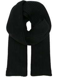 Dolce And Gabbana Chunky Ribbed Scarf Black