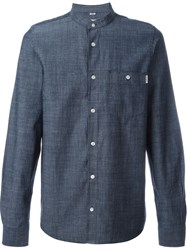 Carhartt Mandarin Collar Shirt Blue