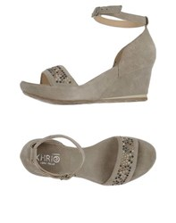 Khrio' Footwear Sandals Women Grey