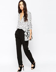 Mango Slouchy Trousers 99Black