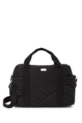 Madden Girl Quilted Weekend Tote Bag Black