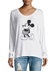 David Lerner Mickey Mouse Tee White