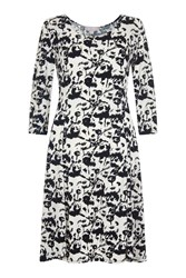 Havren Darlington Skater Dress Black White Black White