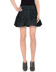Marithe' F. Girbaud Marithe Francois Girbaud Skirts Mini Skirts Women Dark Green