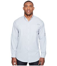 Columbia Tamiami Ii L S Tall Cool Grey Men's Long Sleeve Button Up Gray