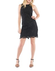 Kensie Love Poetry Bold Garden Lace Dress Black